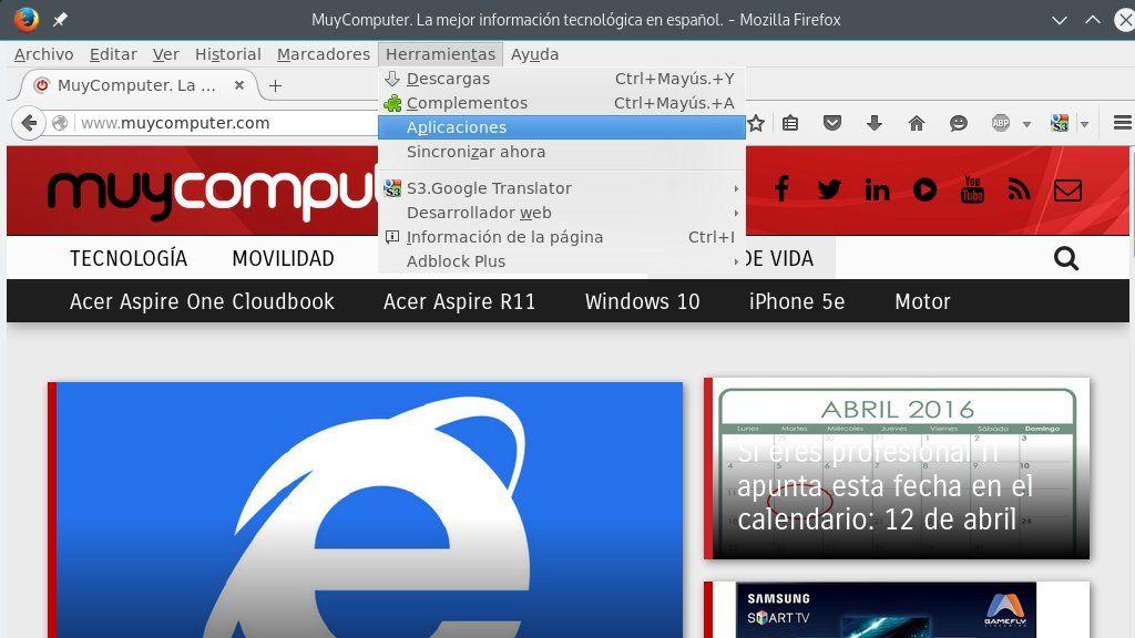 Mozilla eliminará el soporte para aplicaciones de Firefox