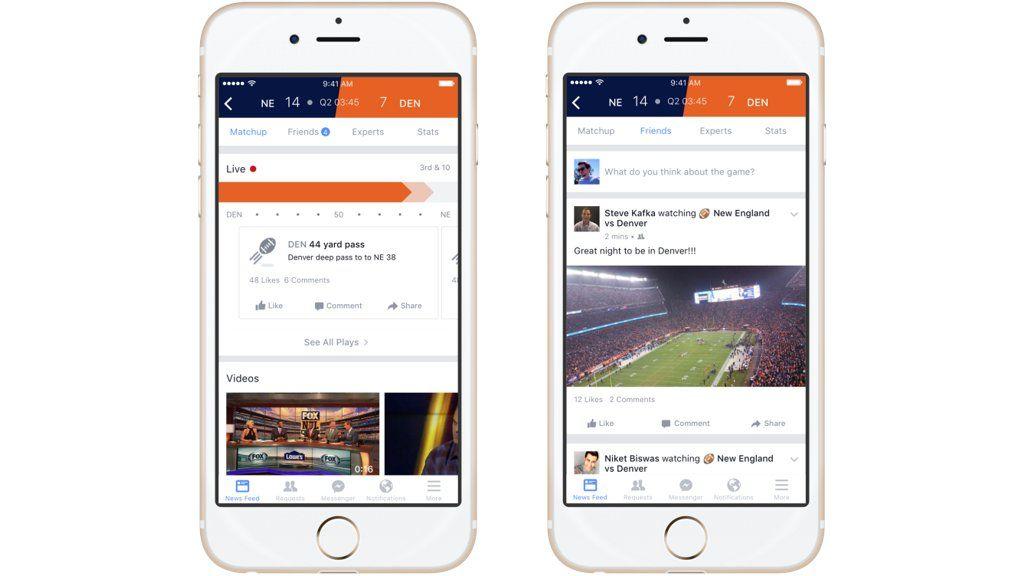 Sigue los partidos a través de Facebook Sport Stadium