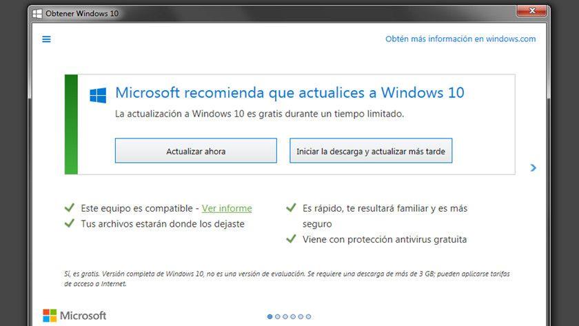 Obtenga Windows 10
