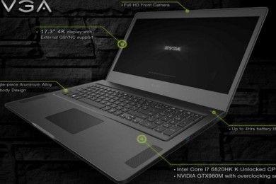 EVGA presenta portátil gaming de alto rendimiento