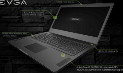 EVGA presenta portátil gaming de alto rendimiento 121