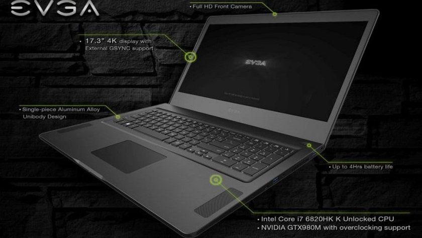EVGA presenta portátil gaming de alto rendimiento 32