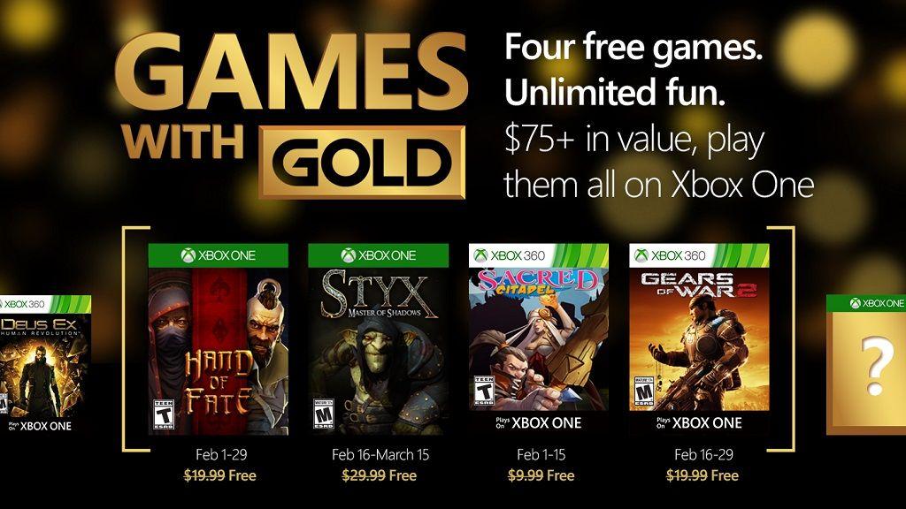 Estos son los juegos gratis de Games with Gold para febrero 28