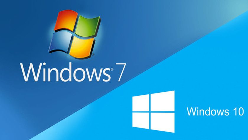 Windows 7 y Windows 10