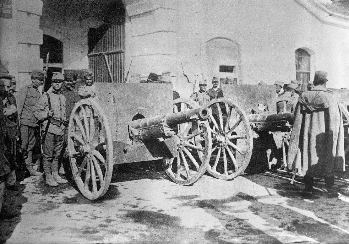 cañones serbios