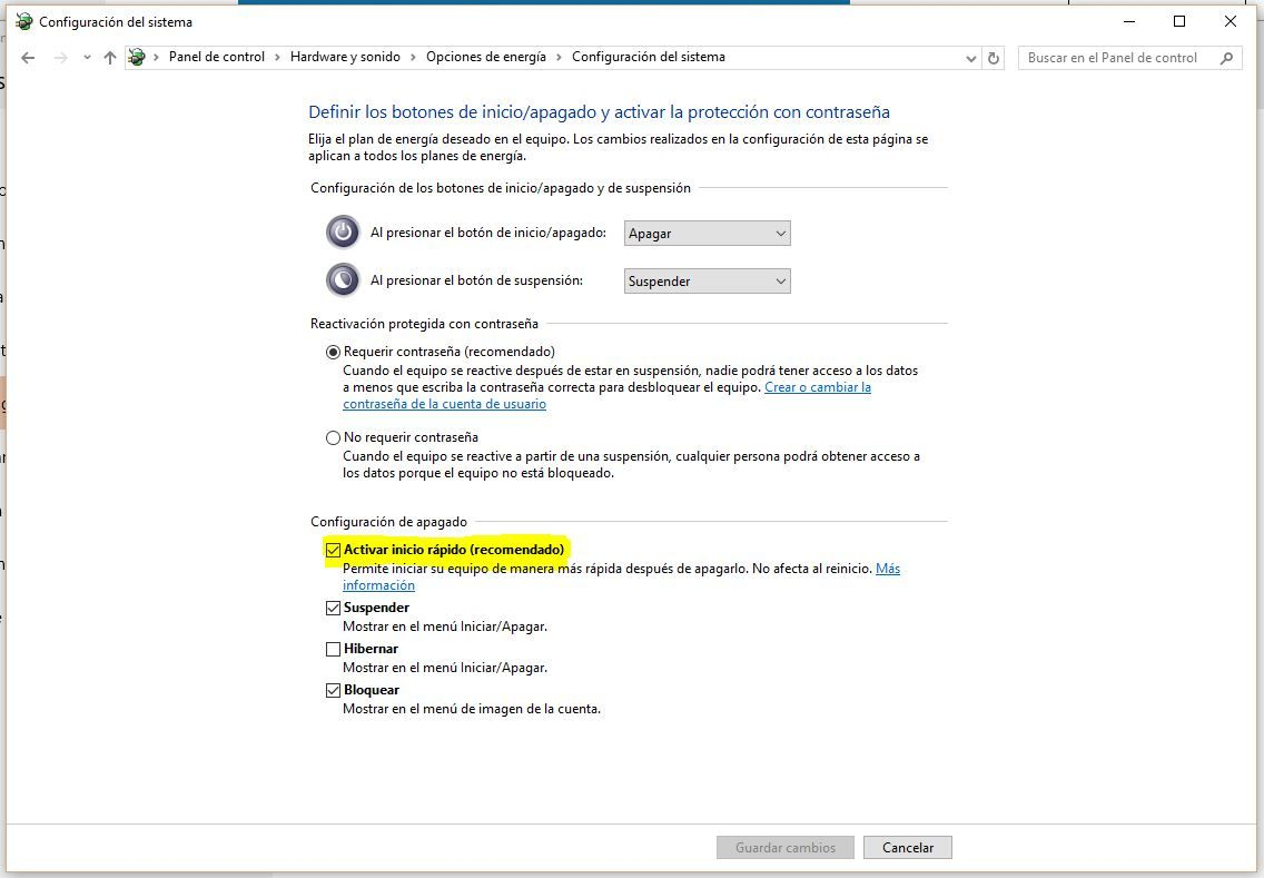 inicio rapido Windows 10