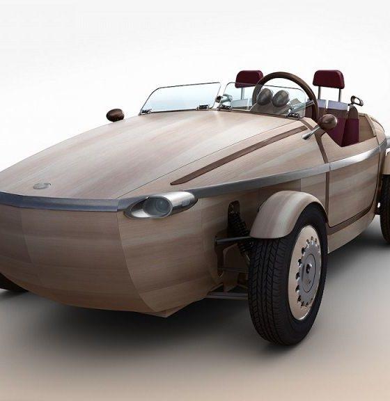 Setsuna, el coche de madera de Toyota 32