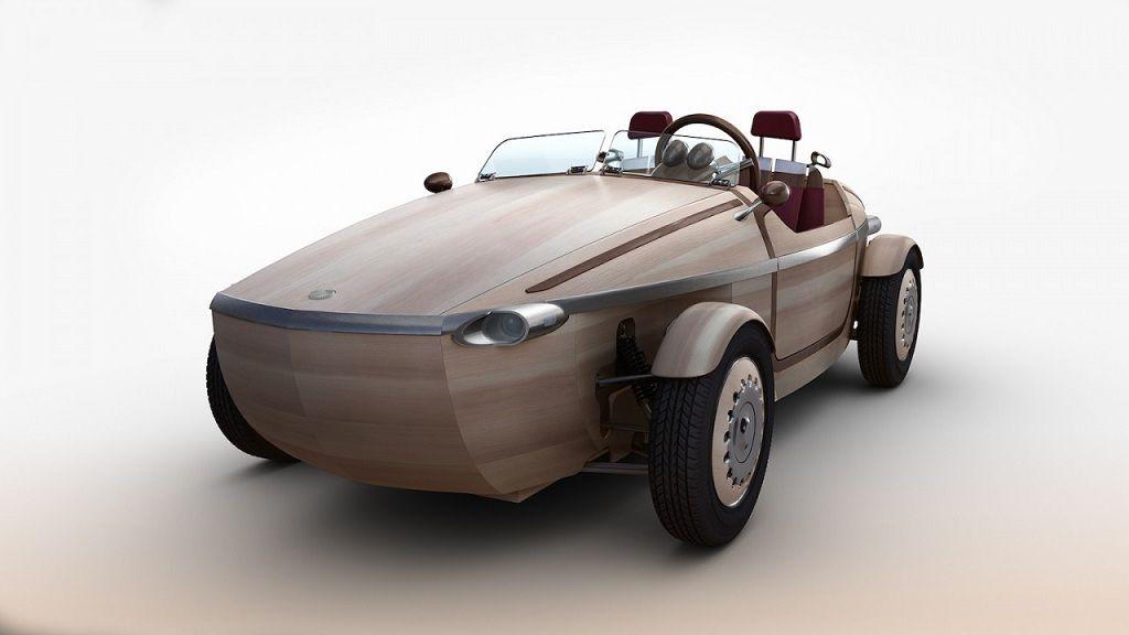 Setsuna, el coche de madera de Toyota 30