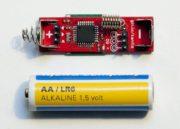 AAduino, un clon de Arduino del tamaño de una pila 33