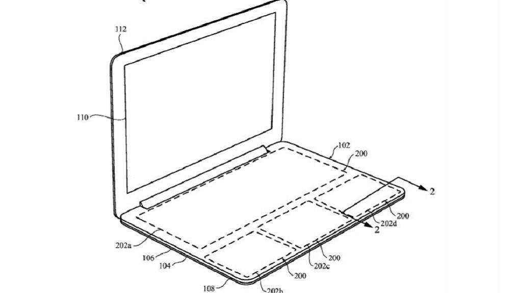 Apple patenta teclado para MacBook, pero sin teclas 30