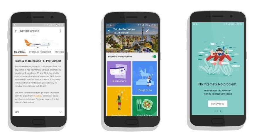 Así será Google Trips, el organizador de viajes que prepara  Google 30