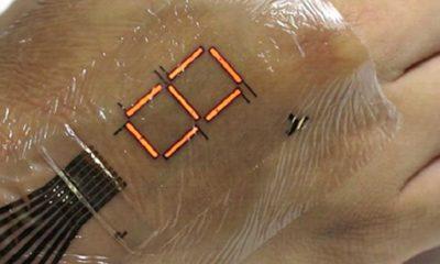 LEDs ultradelgados convierten tu piel en una pantalla 57