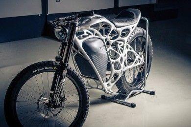 Esta motocicleta impresa en 3D es una chulada muy cara
