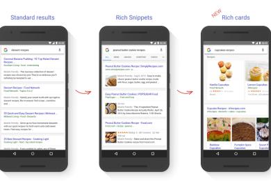 Google muestra búsquedas más vistosas usando tarjetas