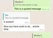 WhatsApp permite ahora citar mensajes 42
