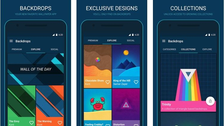 Tres Apps De Wallpapers Material Design Para Android