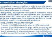 Filtrada guía de desarrollo de PS4 NEO, especificaciones 36