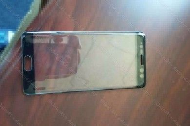 Este sería el frontal del Galaxy Note 7 con escáner de iris