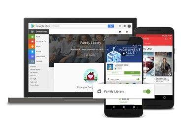 Llega Google Play Family Library, comparte tus contenidos