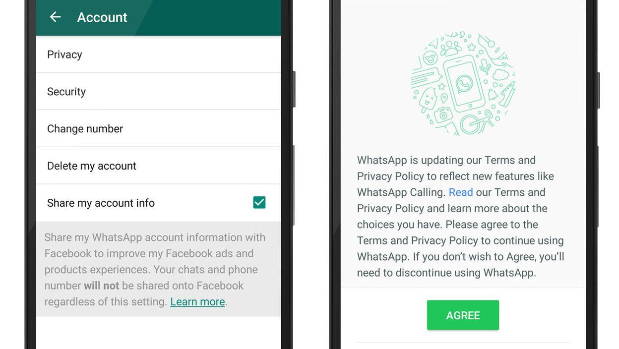 Desactivar la compartición del número de móvil entre WhatsApp y Facebook