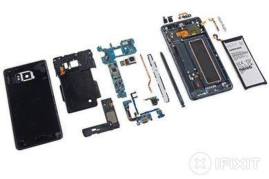 iFixit desmonta el Galaxy Note 7 y lo puntúa con un 4 sobre 10