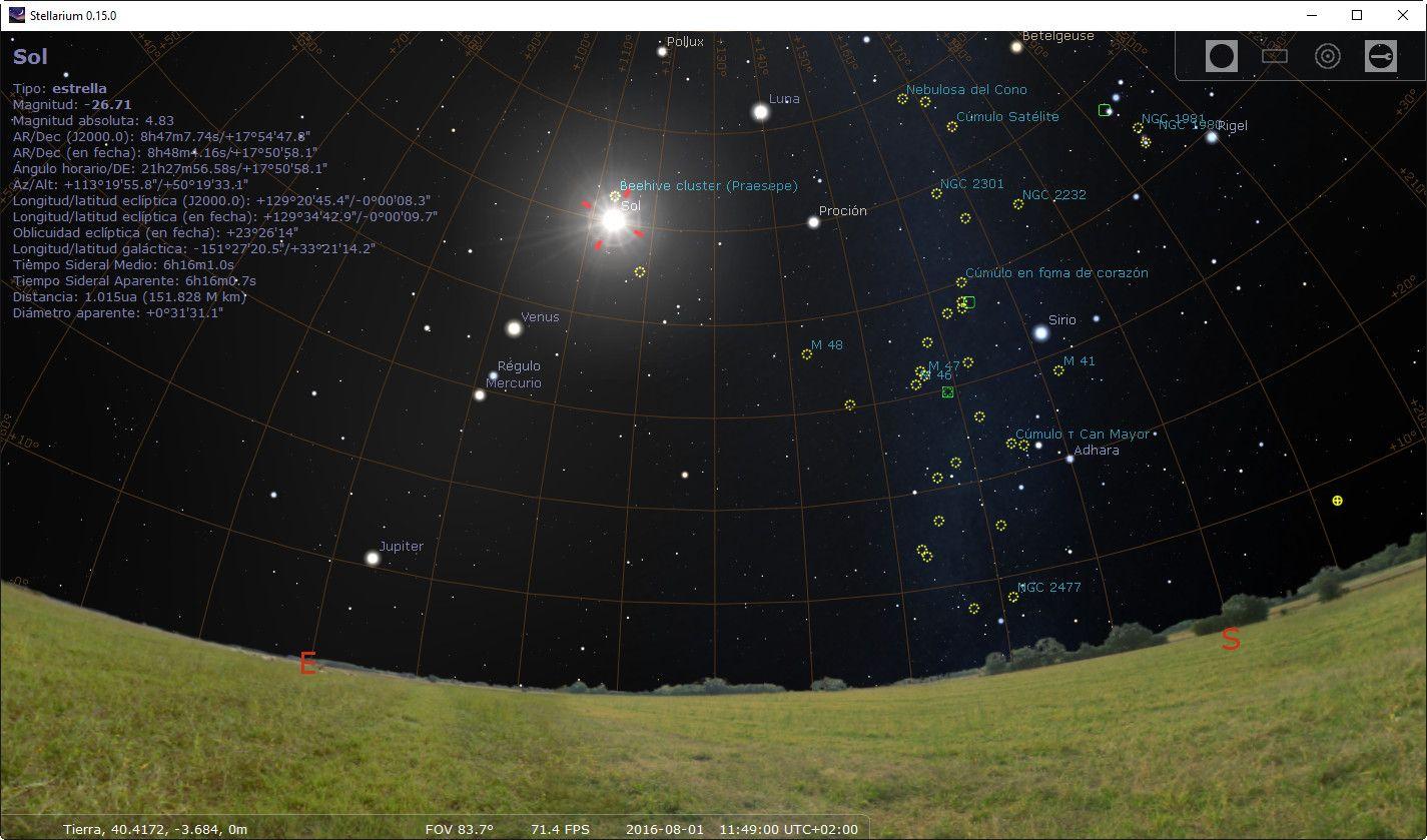 Nuevo Stellarium