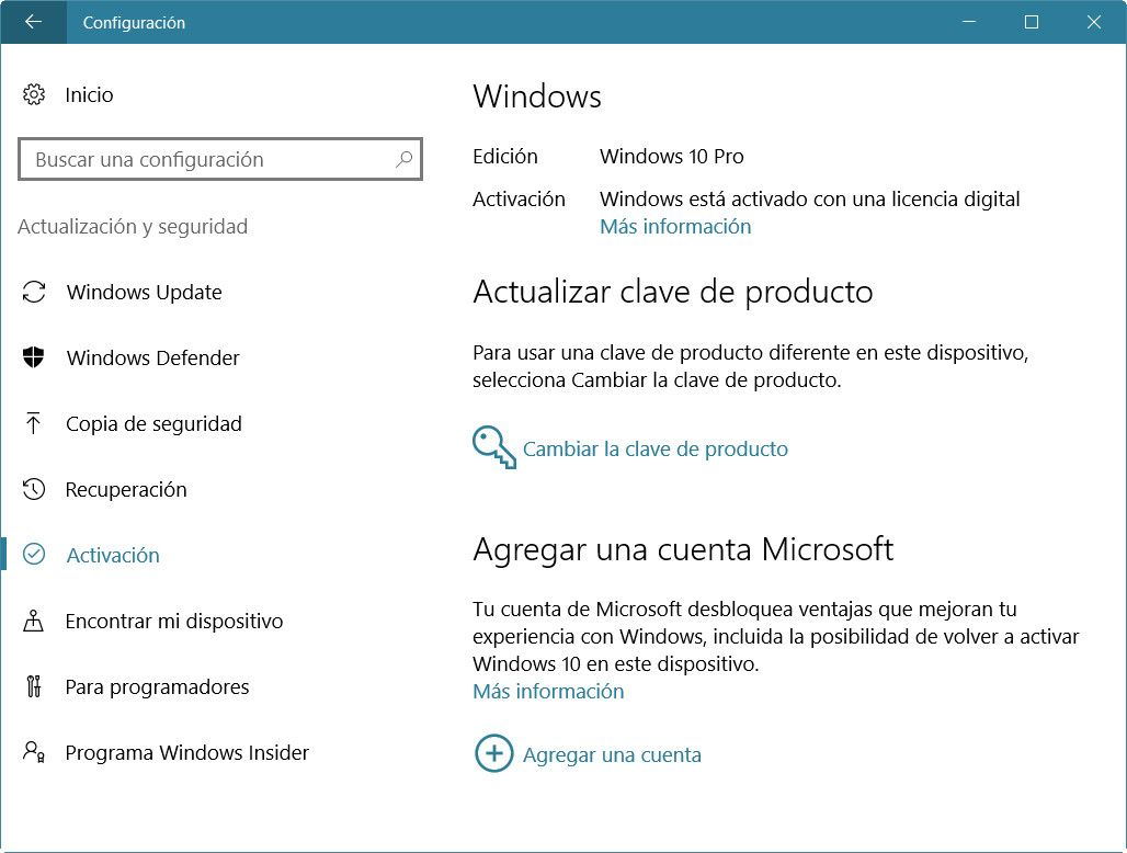 activacion de licencia windows 10
