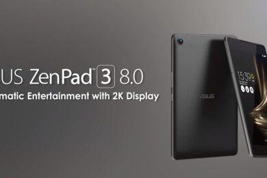 ASUS presenta el tablet de medio formato ZenPad 3
