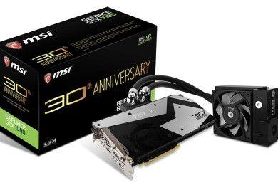 MSI celebra su 30 aniversario con esta impresionante GTX 1080