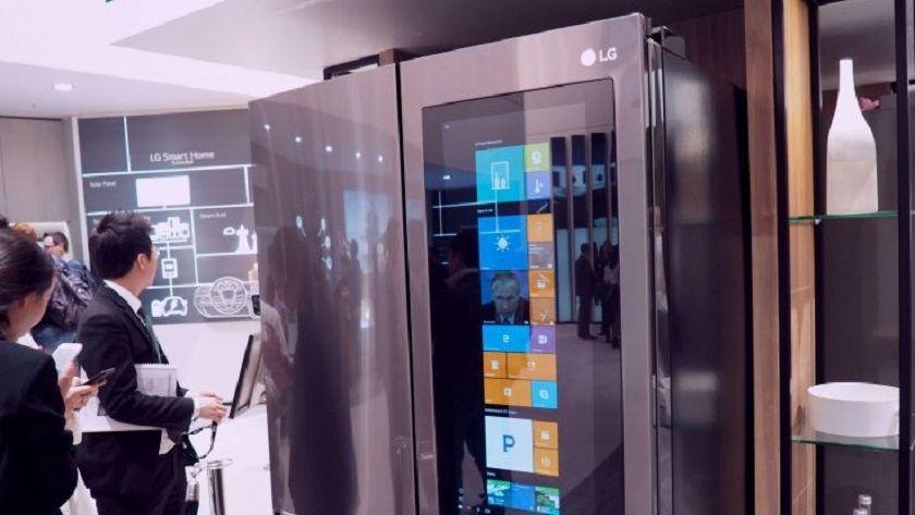 Windows 10 como nunca lo habías visto, en la puerta de un frigorífico 34
