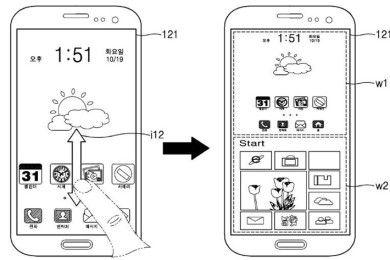 Samsung patenta un smartphone que utiliza Windows y Android al mismo tiempo