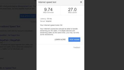 Ya puedes medir la velocidad de tu conexión con Google