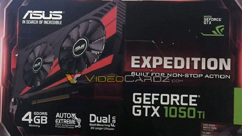 Primera imagen de la caja de la GTX 1050 TI de ASUS 30