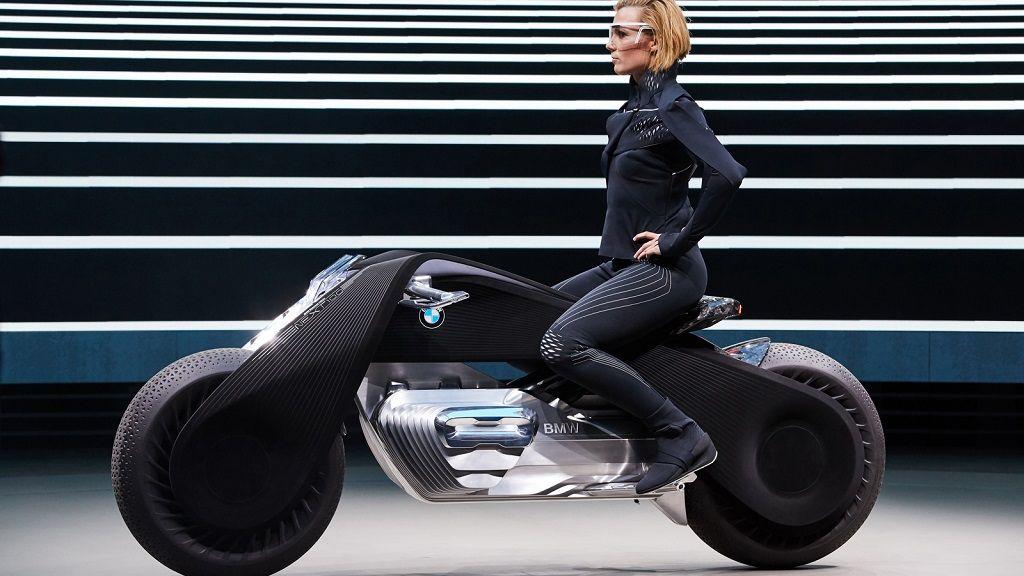 La moto del futuro no necesitará casco según la visión de BMW 30
