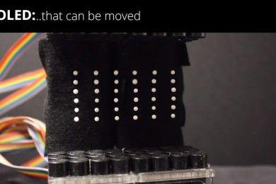 Esta pantalla flotante no hace olvidar los hologramas, pero impresiona