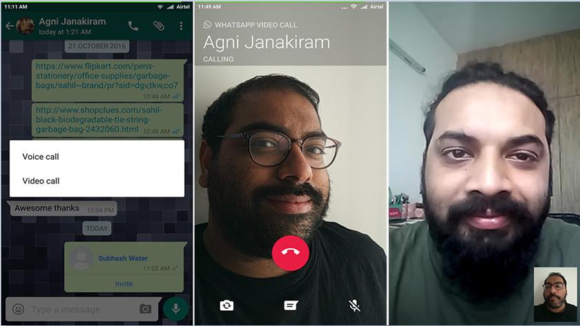 videollamadas con WhatsApp