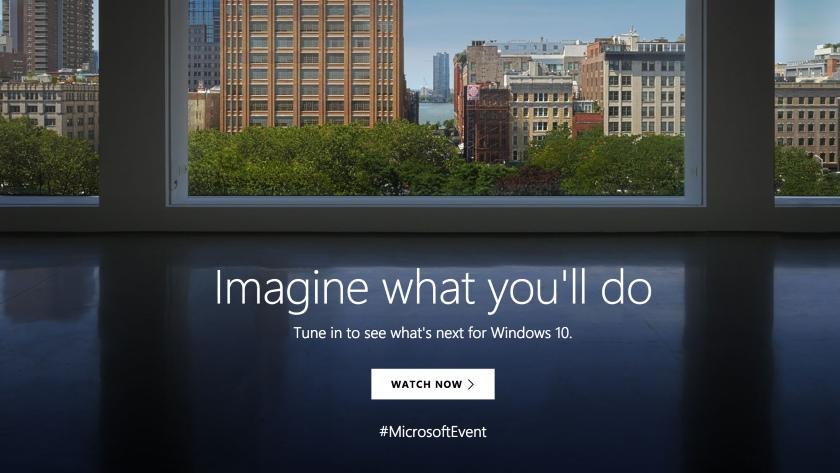Sigue con nosotros el evento de Microsoft: Windows 10 y Surface 30