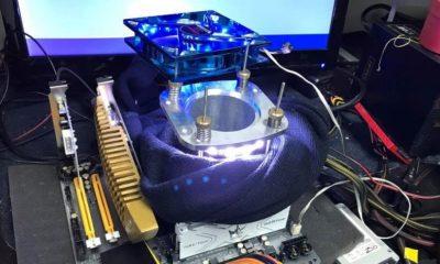 Llevan un I7-7700K a 6,7 GHz con nitrógeno líquido, i5 7600K a 5,1 GHz por aire 95