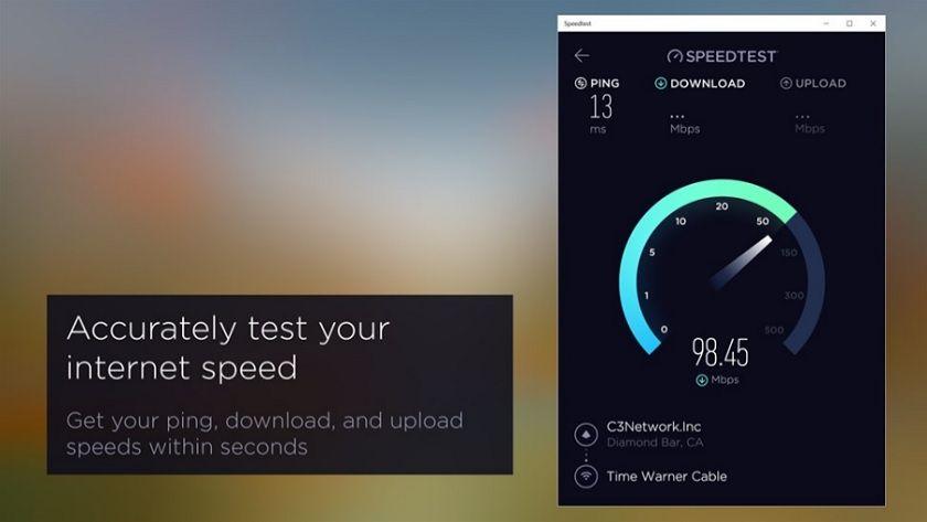 Speedtest.net, mide la velocidad de tu conexión con la aplicación para Windows 10 30