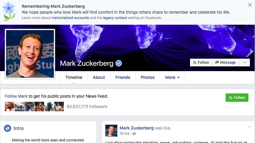 """Facebook pide perdón por haber """"matado"""" a casi todo el mundo 30"""