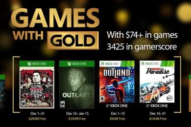 Juegazos gratis con el Games with Gold de diciembre