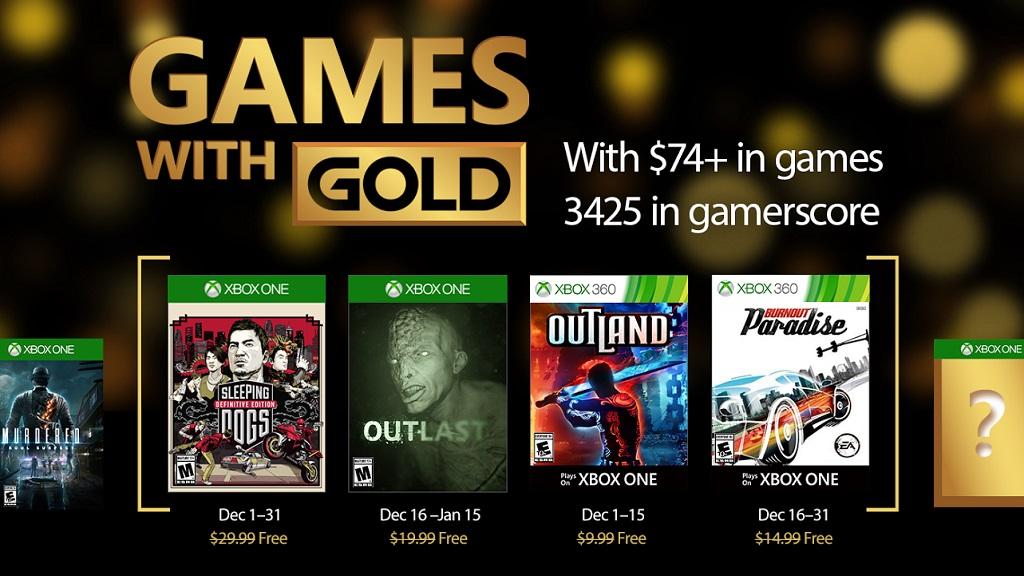 Juegazos gratis con el Games with Gold de diciembre 28