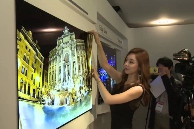 Nuevos detalles de la televisión OLED de 1 mm de grosor de LG