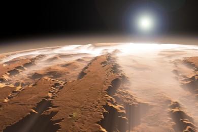 Marte esconde una enorme capa de hielo