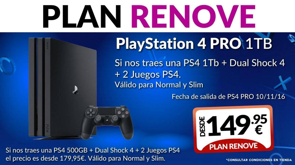 Plan renove de PS4 Pro en Game