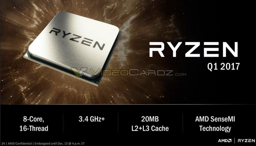 AMD RYZEN: primer procesador entusiasta de los Zen