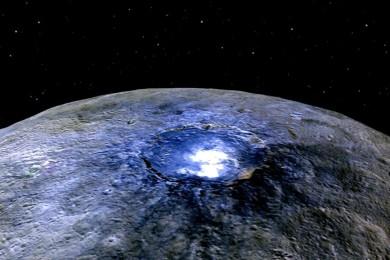Según la NASA Ceres está lleno de sorpresas, y también de agua