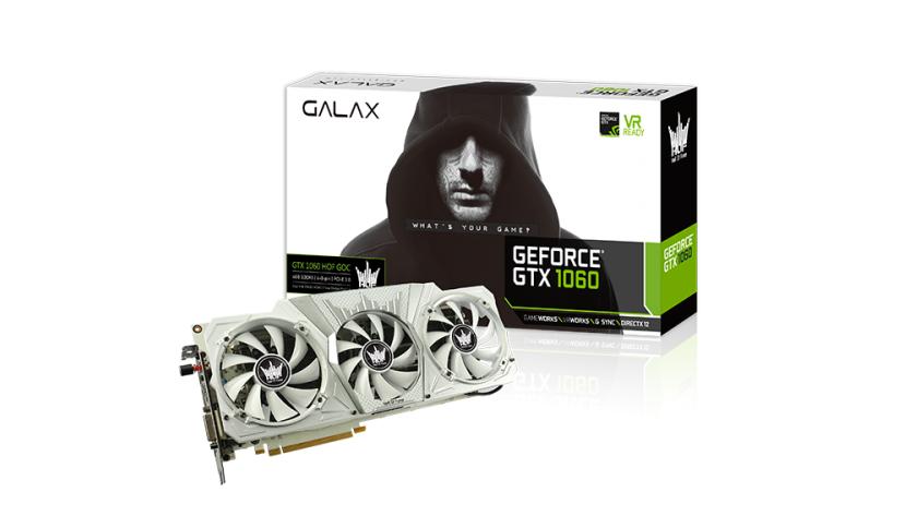 Nuevo récord, la GALAX GeForce GTX 1060 HOF llega a 3 GHz en la GPU 36