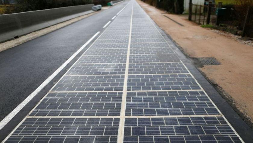 La primera carretera solar está en Francia y ha sido muy cara de construir