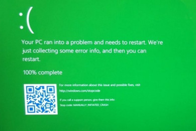 La pantalla verde de la muerte en Windows es muy real